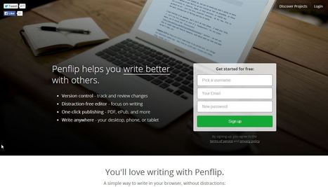 Penflip - a social writing platform | Educatief Internet | Scoop.it