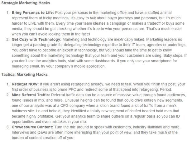 Unsung Marketing Hacks – What Didn't Make the Top 10 List? - Gartner | The Marketing Technology Alert | Scoop.it