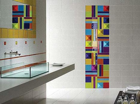 Salle de bain : quand les motifs s'invitent sur vos revêtements | mobilier salle de bain | Scoop.it