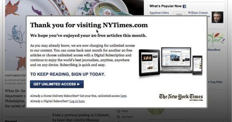Online paywalls are becoming more popular with newspapers ... | Paywalls | Scoop.it