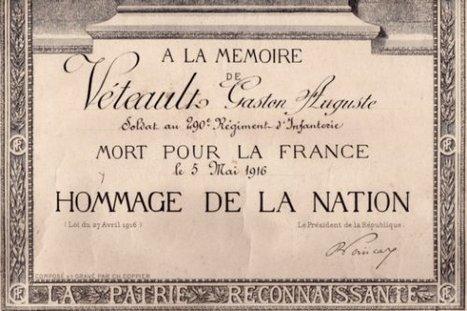 95 ans plus tard, un diplôme oublié dans un grenier - Histoire Généalogie - La vie et la mémoire de nos ancêtres | GenealoNet | Scoop.it