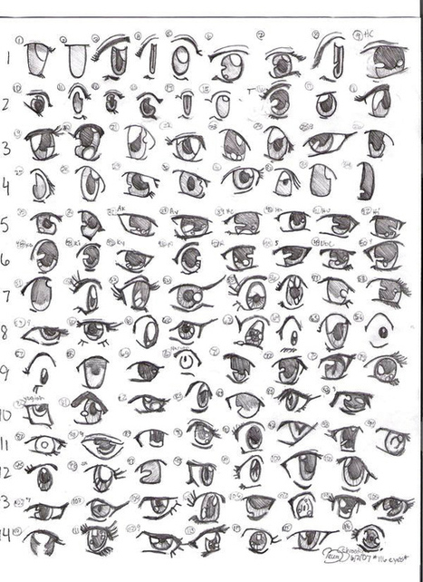Expressive Eyes Drawing Manga Eye Drawing Reference