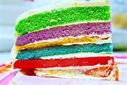 Twitter / YummyFoodPics: Rainbow Catering Cake ... | cooking | Scoop.it