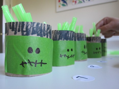 Halloween Math - Fill and Count Frankenstein | No Time For Flash Cards | Jardim de Infância | Scoop.it