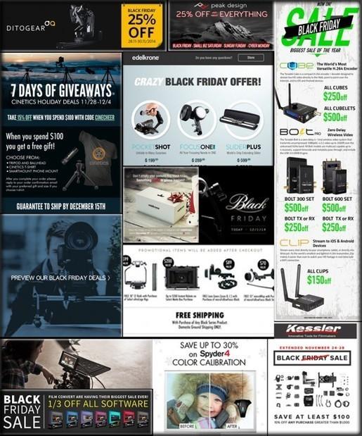 Major Mega Post with 20+ Black Friday Photo/Video Gear Deals!