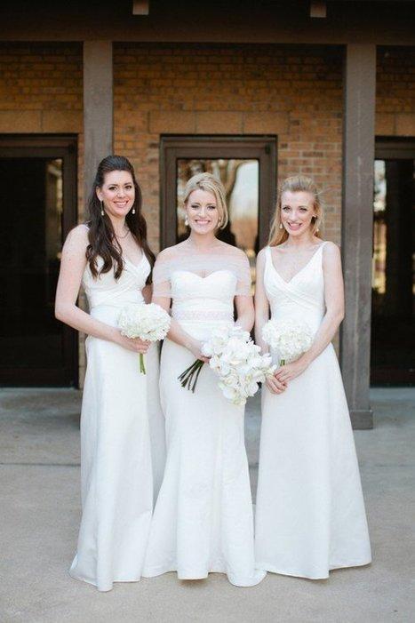 White Bridesmaids Dresses - Rustic Wedding Chic | a la mode | Scoop.it