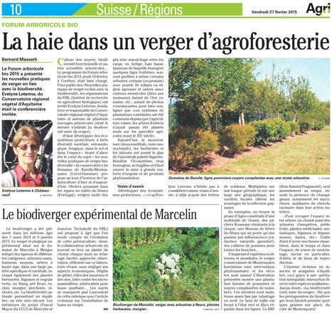 Agri 27.05.201 Evelyne Leterme était l'invitée du Forum arboriculture bio 2015 à Conthe | Agroécologie | Scoop.it