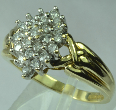 9ct Gold 0 50ct Diamond Cluster Ring | Engagement Rings | Scoop.it