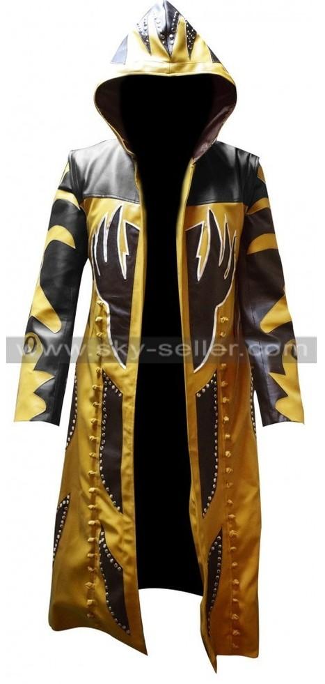 Goldust WWE Hooded Leather Coat   Sky-Seller : Men Leather Jackets   Scoop.it
