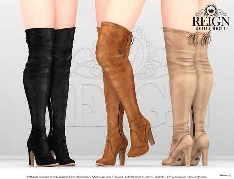 Anaiya Boots 3rd Anniversary Group Gift by REIGN   Secondlife freebies   Scoop.it