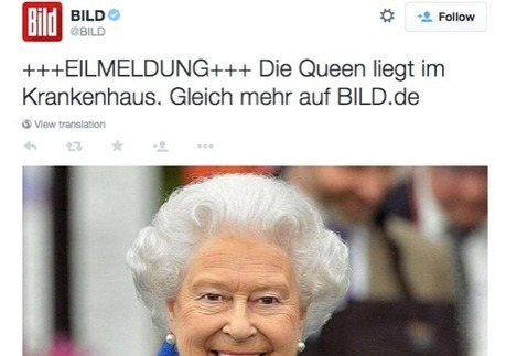 'False tweets spark alarm that Queen Elizabeth dead' | News You Can Use - NO PINKSLIME | Scoop.it