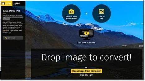 Conversion en ligne des photos RAW vers JPEG | 01 Photo | netnavig | Scoop.it
