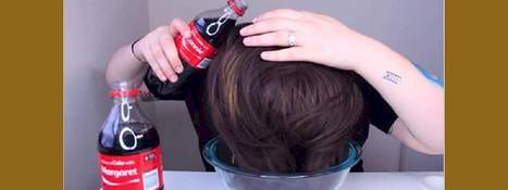 She Pours Two Bottles Of Coke Over Her Hair. | Strange days indeed... | Scoop.it