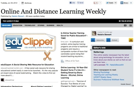 July 3 - Online And Distance Learning Weekly is out   Studying Teaching and Learning   Scoop.it