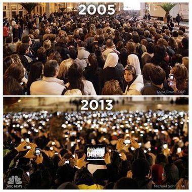 Le monde avant et après l'iPhone vu .. place Saint-Pierre - iPhone 5, 4S, iPad, iPod touch : le blog iPhon.fr | ImNerdy | Scoop.it
