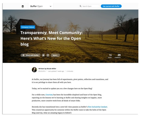 Inside Buffer's New Blog Design (And a Behind-The-Scenes Look at Our Content Strategy) - The Buffer Blog | Public Relations & Social Media Insight | Scoop.it