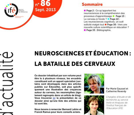 Neurosciences et éducation | TICE et apprentissage | Scoop.it