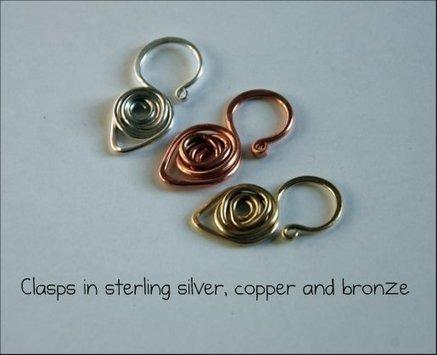 Wire clasp tutorials | artisan jewelry | Scoop.it
