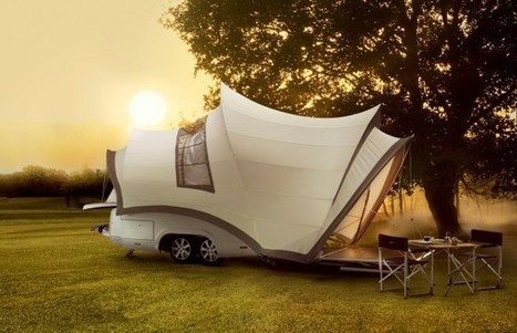 Enjoy The Great Outdoors In This Camper Inspired By The Sydney Opera House | green | Scoop.it
