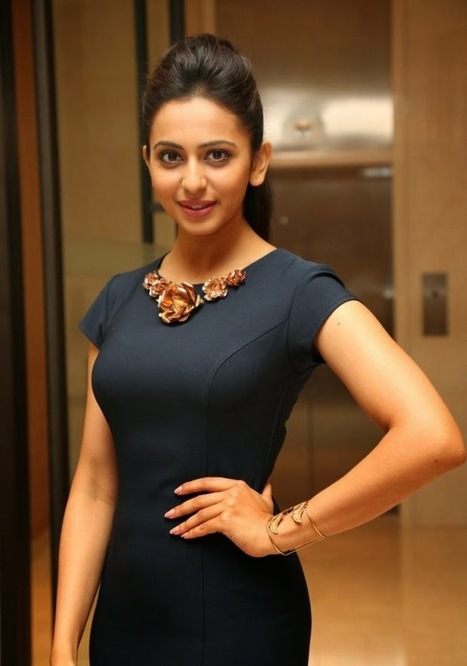Rakul Preet Singh in a Designer Dress Skirt 2015 with Latest Neck Design IndianRamp.com, Actress, Bollywood, Western Dresses | Indian Fashion Updates | Scoop.it