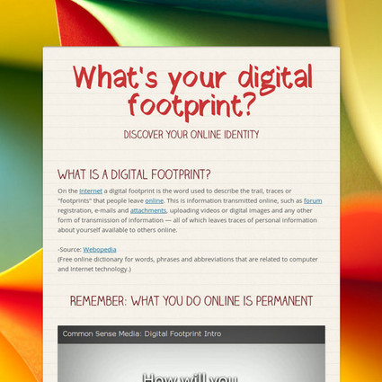 What's your digital footprint? | Flat Classroom | Scoop.it