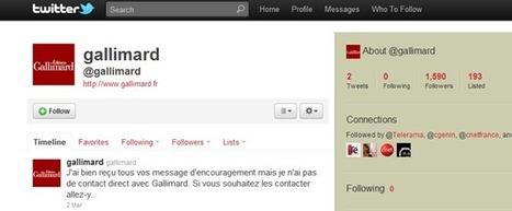 Gallimard ne prend soin ni de Twitter ni de ses fans | Community management et édition | Scoop.it