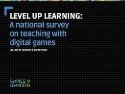 Joan Ganz Cooney Center - Level Up Learning: A National Survey on Teaching with Digital Games | cool stuff from research | Scoop.it