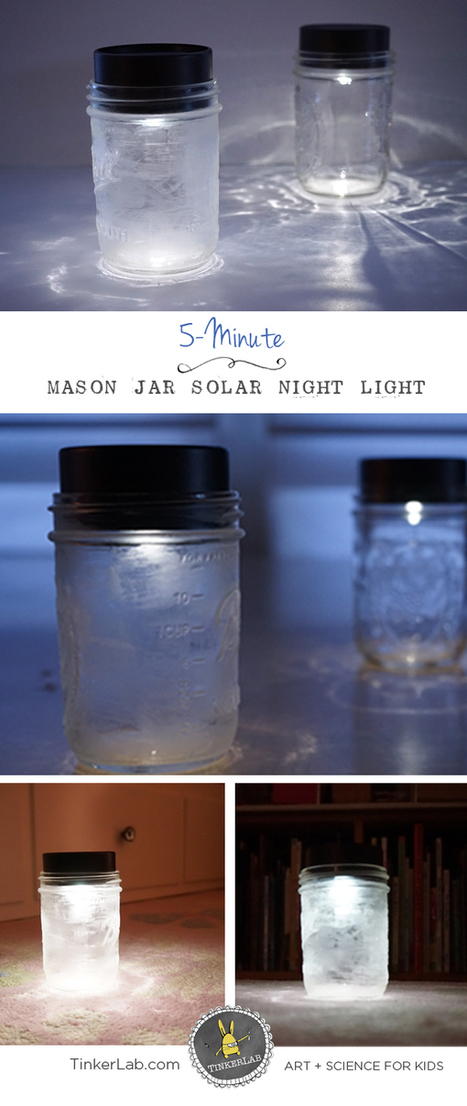 Mason Jar Solar Lights for Kids - TinkerLab | Educação Tecnológica | Scoop.it