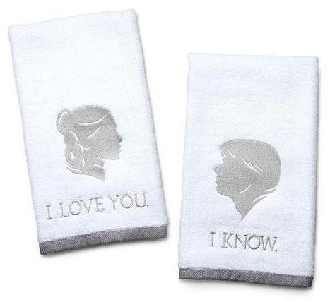 """I Love You, I Know"" Hand Towels For Nerdy Couples 