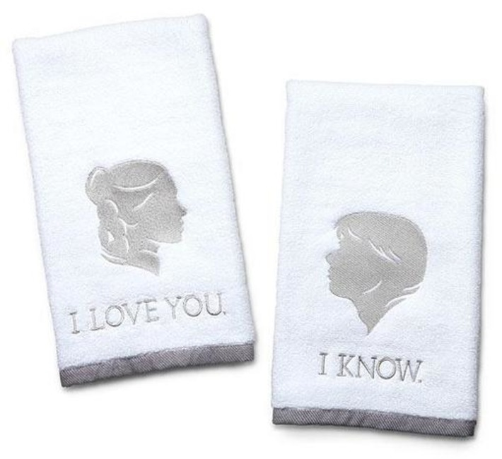 """""""I Love You, I Know"""" Hand Towels For Nerdy Couples 