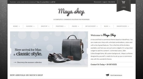 MayaShop - A Flexible Responsive e-Commerce Theme - Creative WordPress WEB Design Awards | eCommerce Website Templates | Scoop.it