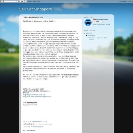Cars Dealers  Singapore-Direct Cars | Used Car Dealer Singapore - Directcars | Scoop.it