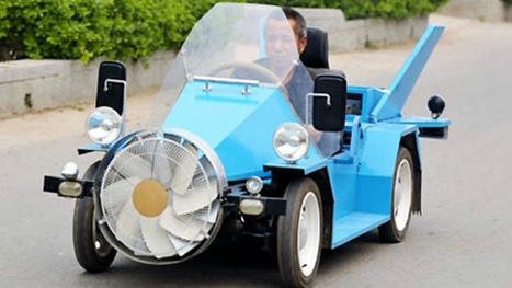Granjero chino crea su propio coche eólico | Noticias de ecologia y medio ambiente | Infraestructura Sostenible | Scoop.it