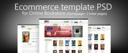 E-commerce Template PSD for Online Bookstore - Freebie No: 68 | Website Design Template PSD | Scoop.it