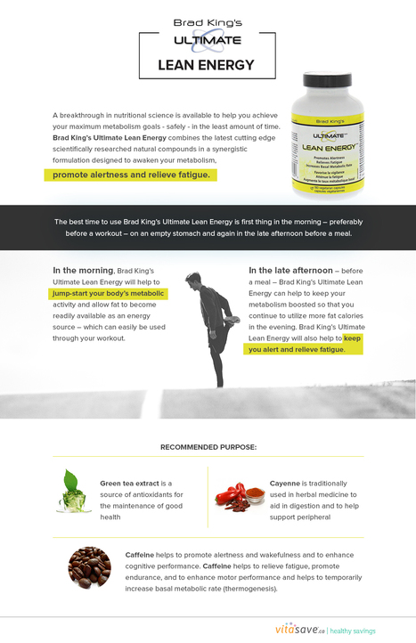 BRAD KING LEAN ENERG   Vitasave - Canada's top online vitamin and supplement store   Scoop.it