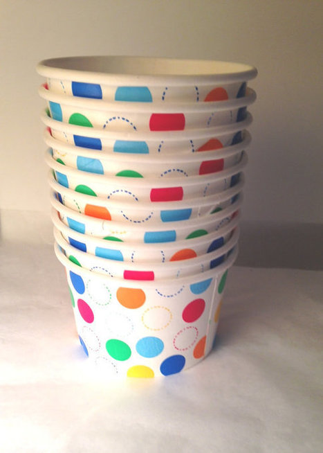 Ice Cream Paper Cups Party Make your own sundae Buffet supplies dessert snack Cups Birthday Party 10 ct by ilPiccoloGiardino | Candy Buffet Weddings, Events, Food Station Buffets and Tea Parties | Scoop.it