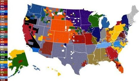 Incredible new maps show surprising geographical breakdown of NFL fans - Daily Mail | Cartography | Scoop.it