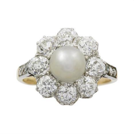 A Victorian pearl and diamond cluster ring - Bentley & Skinner | Bentley And Skinner | Scoop.it