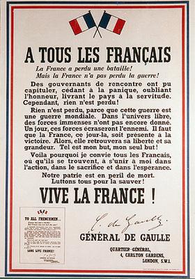 #169 ❘ l'Appel du 18 juin ❘ 1940 ❘ Général De Gaulle | # HISTOIRE DES ARTS - UN JOUR, UNE OEUVRE - 2013 | Scoop.it