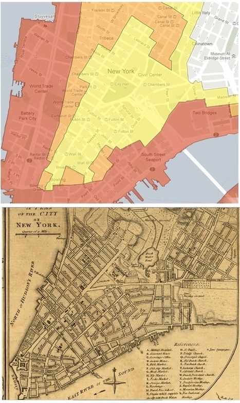 Manhattan Evacuation Plan Reveals Island's Old Contours | Geography Education | Scoop.it