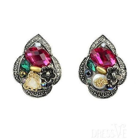 Water-Drop Rhinestone Alloy Pierced Earrings   Dressve fashion   Scoop.it