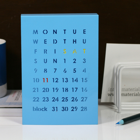 Perpetual Calendar – Blue | Technophilia - Innovations that will change our daily lifes | Scoop.it