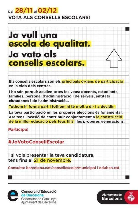Eleccions als Consells Escolars de Centres a Barcelona | Actualitat dels centres de Sarrià-Sant Gervasi | Scoop.it