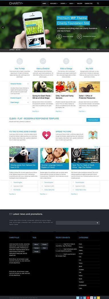 CharityPlus / Charity Wordpress Theme   Premium iThemes   Themes & Templates   Scoop.it