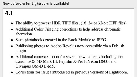 Adobe Photoshop Lightroom 4.1 supports Fujifilm X-Pro1 |  Adobe | Fuji X-Pro1 | Scoop.it