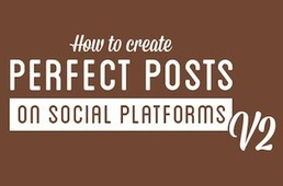 Facebook, Twitter, Instagram, Pinterest, Vine – How To Create Perfect Social Media Posts [INFOGRAPHIC] - AllTwitter | Educational Use of Social Media | Scoop.it