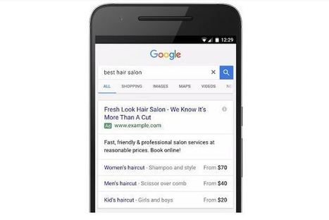 Google AdWords déploie les extensions de prix pour les annonces textuelles mobiles | Référencement internet | Scoop.it