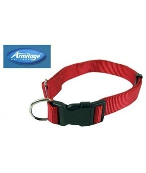 Collars : (Armitage Pet Care) Nylon Adjustable Collar 1 x 24inch Large (Red) | Pet products - Dog | Scoop.it