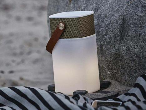 Kreafunk aGlow, enceinte sans-fil vintage chic nomade avec lampe d'ambiance intégrée   ON-ZeGreen   Scoop.it