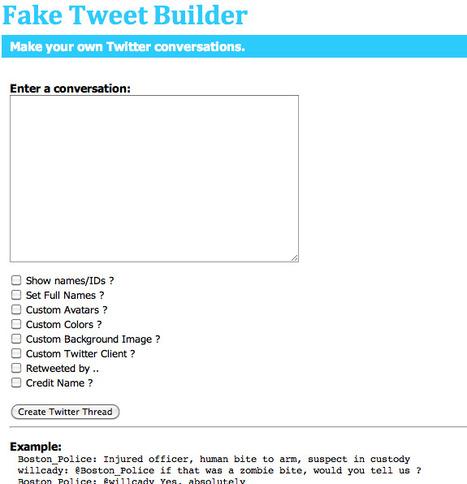 Fake Tweet Builder | Technology Ideas | Scoop.it
